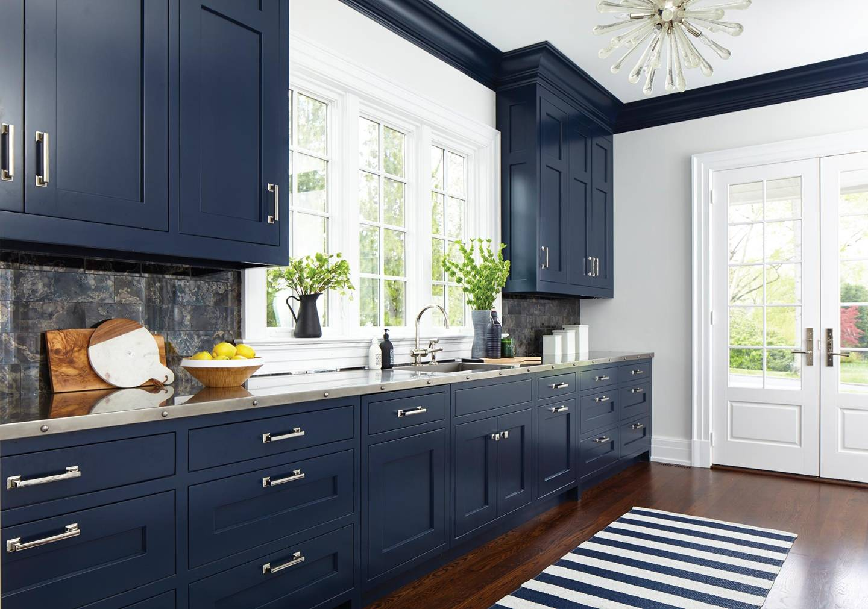 Dark Navy Blue Kitchen