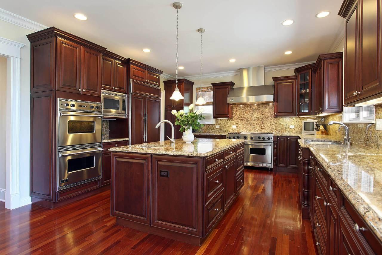 Cherry solid wood kitchen kitchen