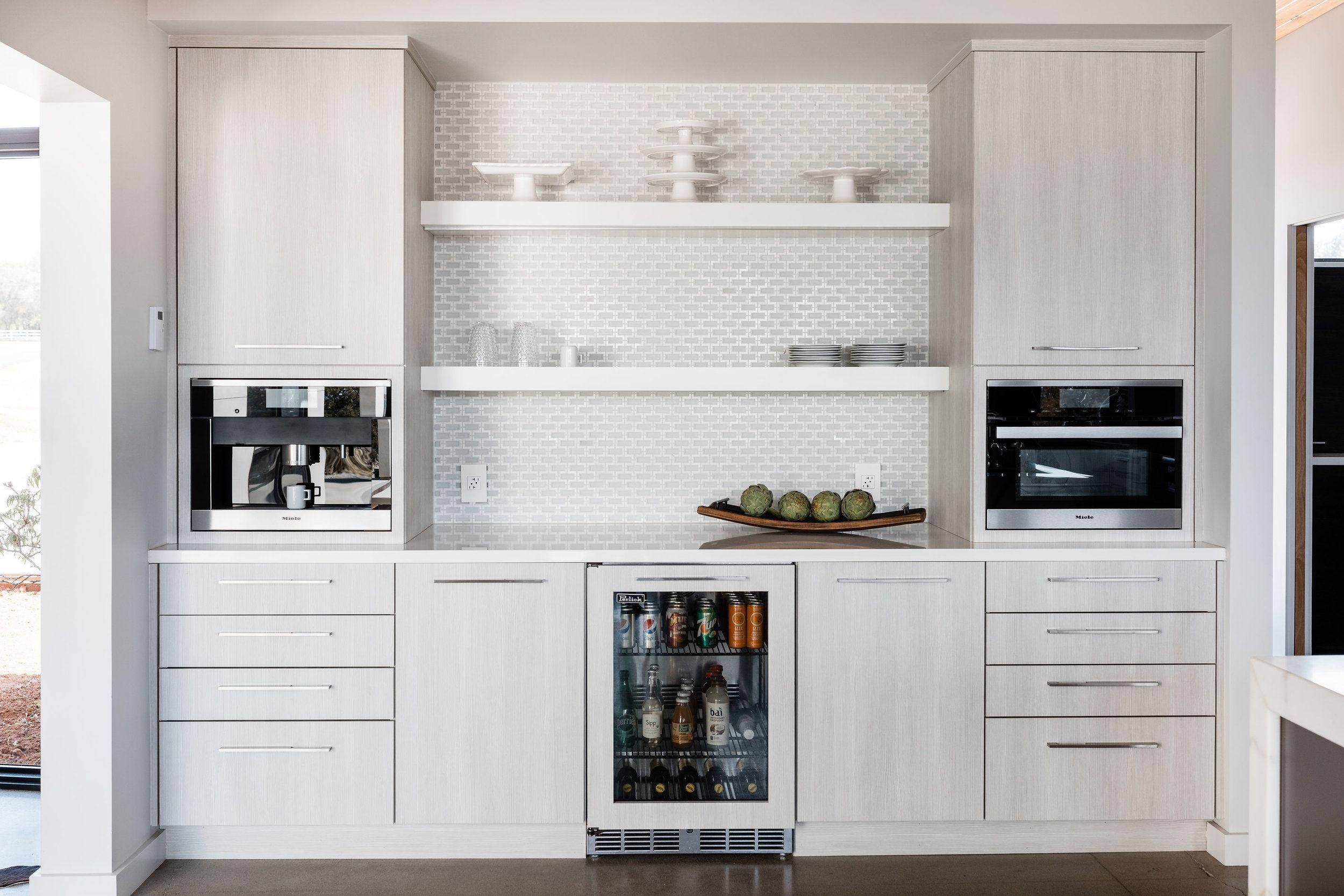 Coffee bars with mini fridge cabinet