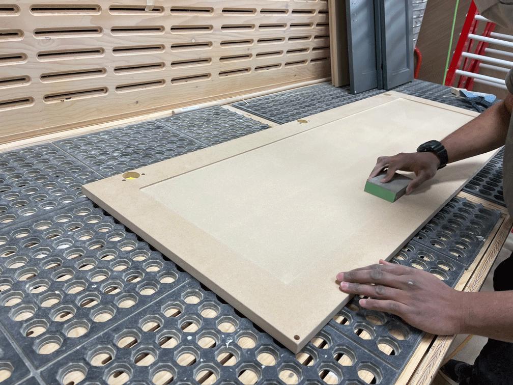 making cupboard doors from mdf