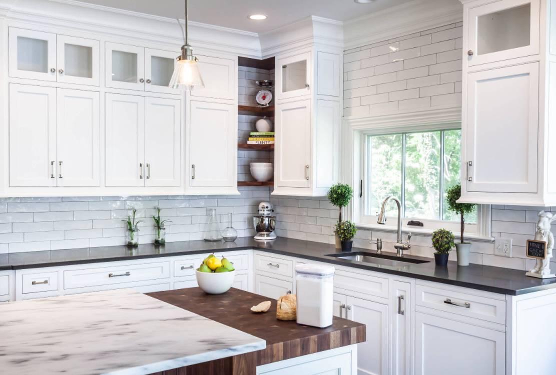 Kitchen cookbook corner idea