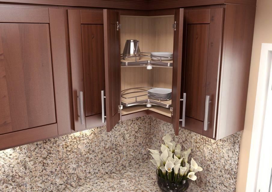 Kitchen corner cabinet with lasy susan organizer