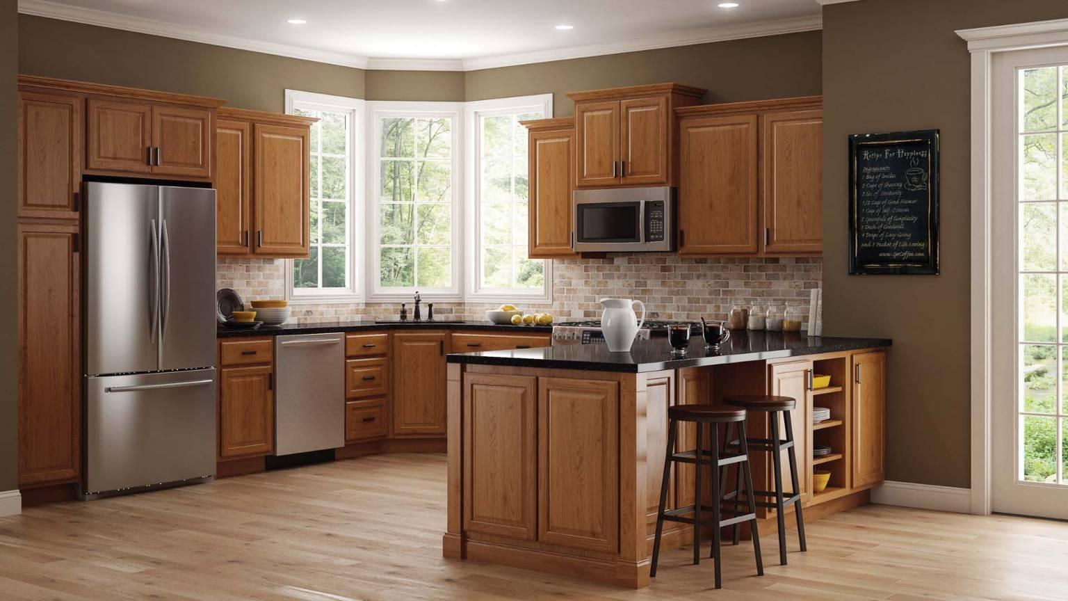 Oak solid wood kitchen cabinets