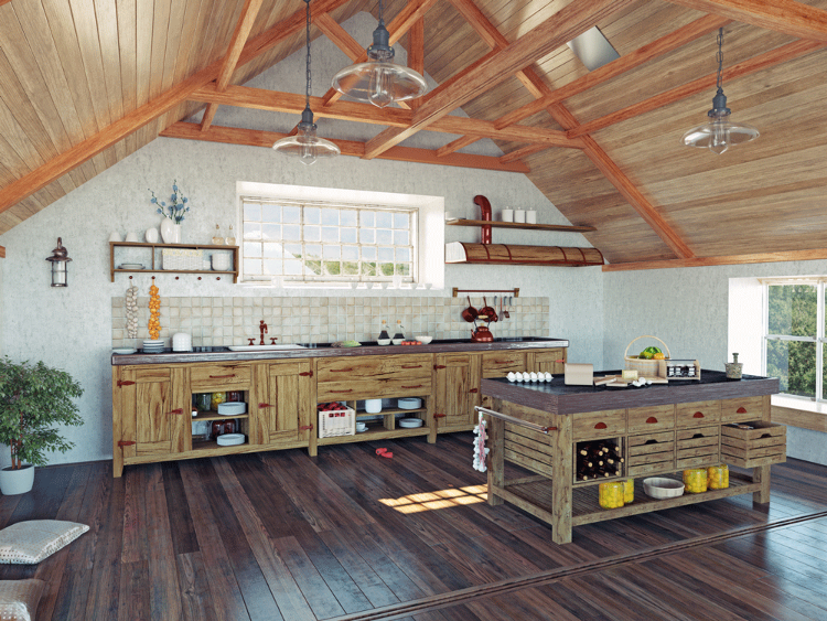 Retro Kitchen Island