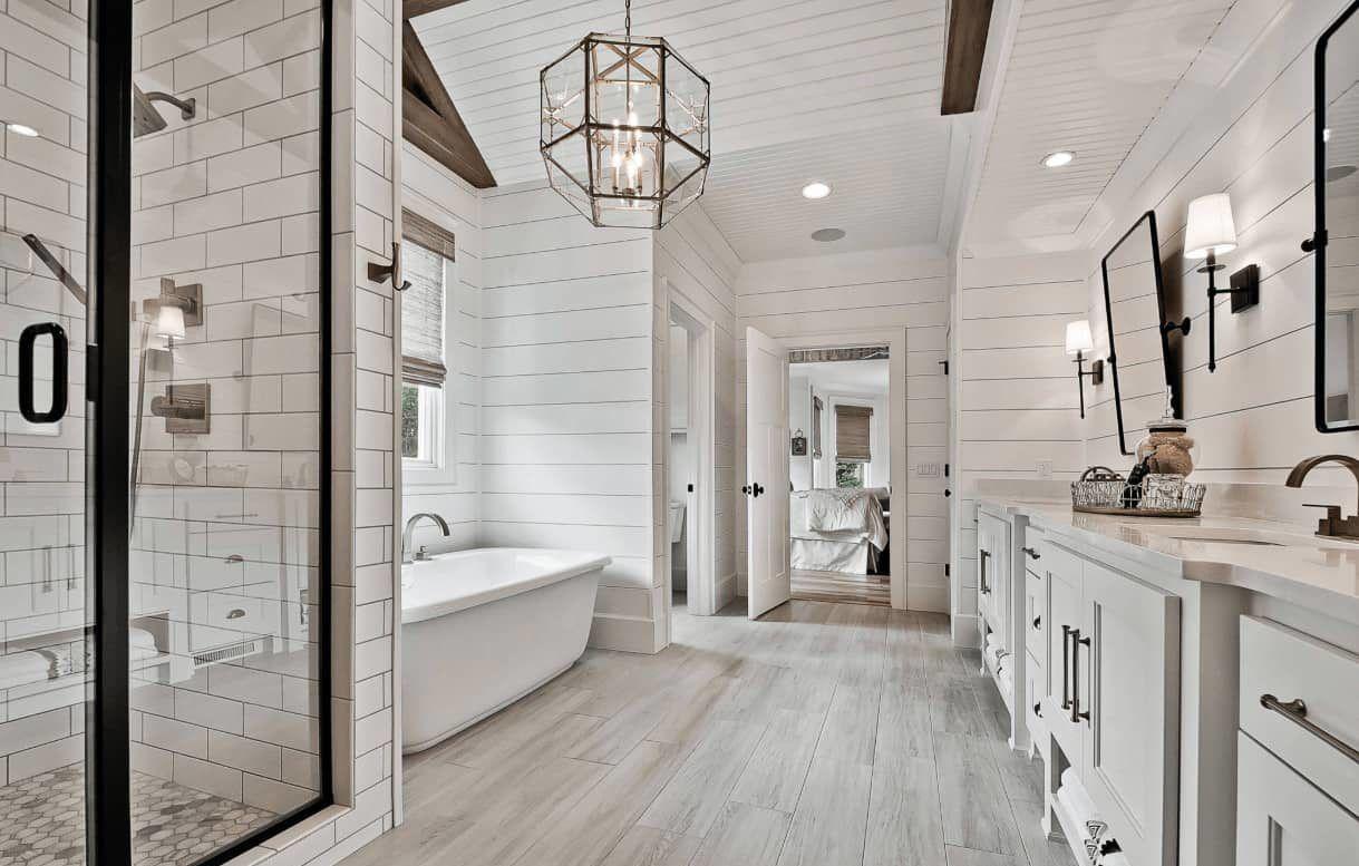 Shiplap Farmhouse Bathroom