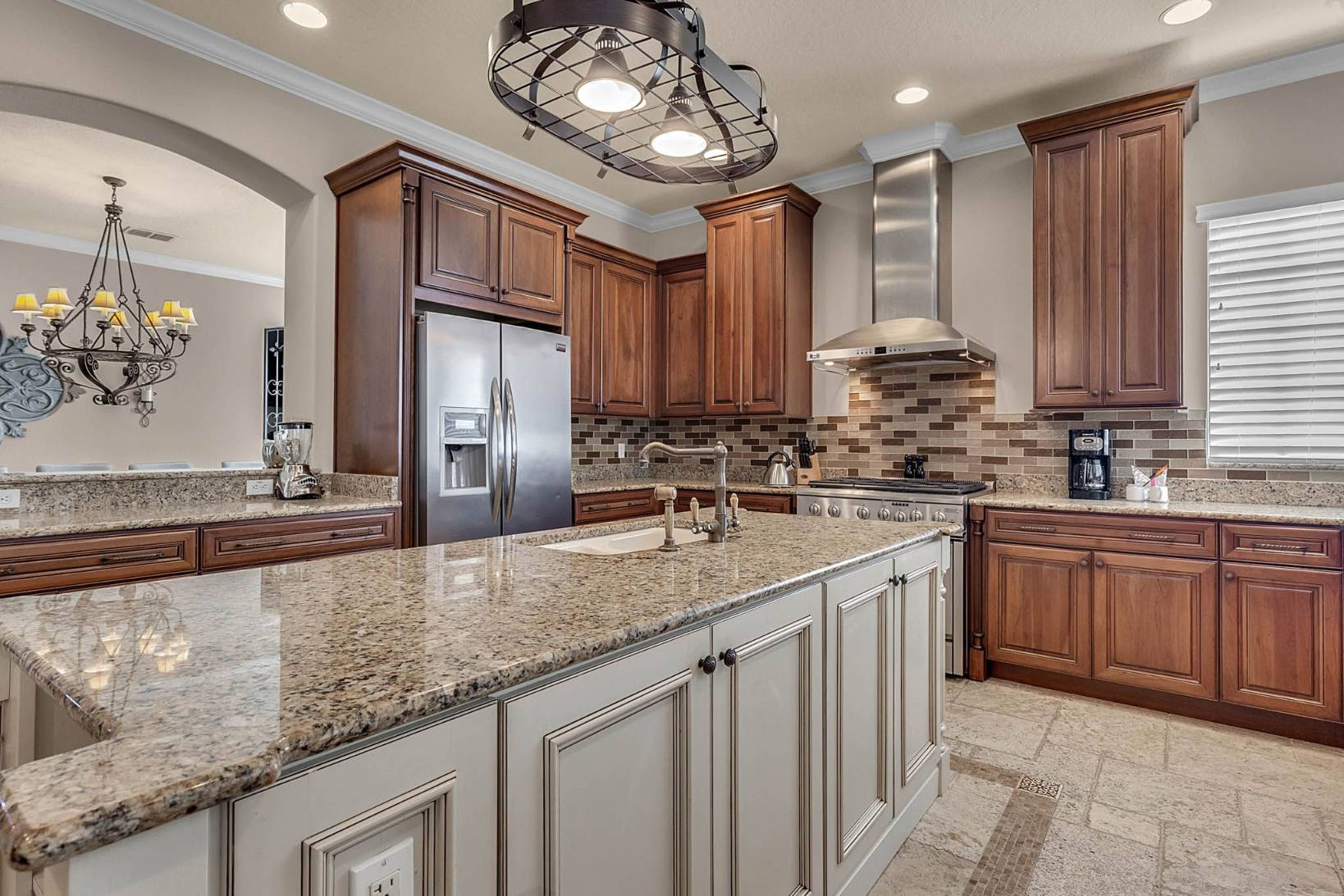 Traditional Gray and Brown Kitchen