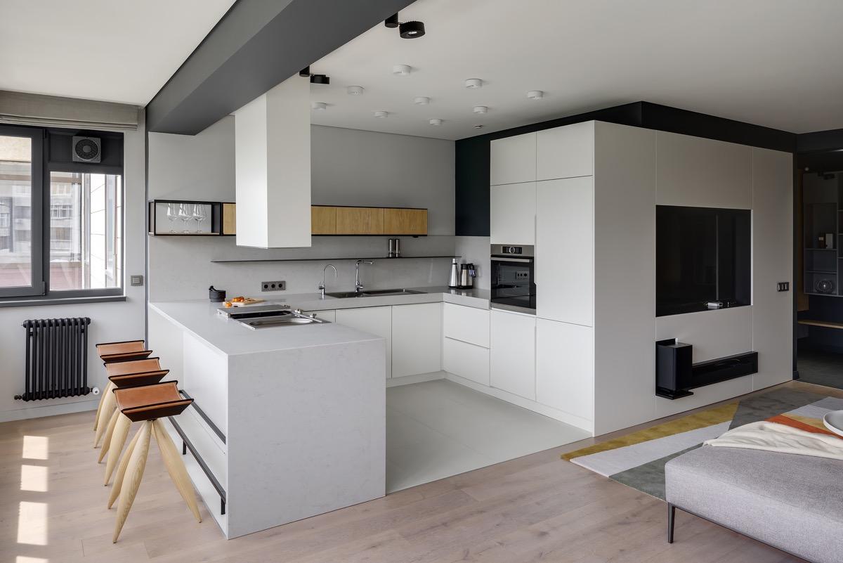 U shaped kitchen renovations
