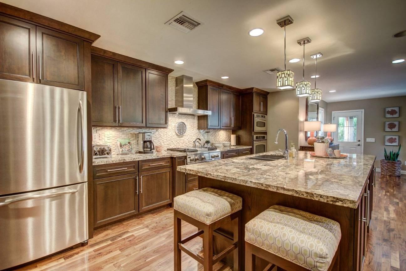 Warm Neutral Shades Kitchen Cabinets