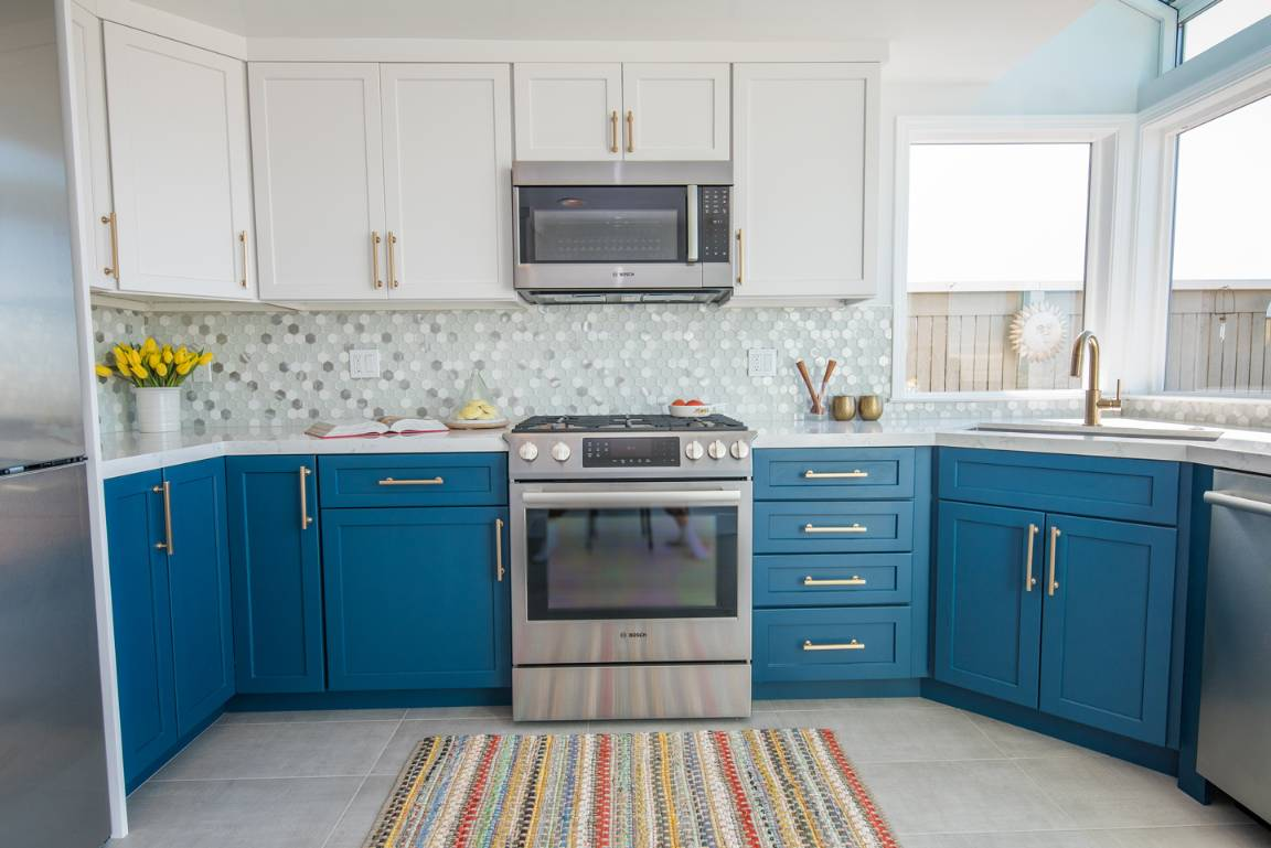 Stainless Steel Appliances and Vibrant Colors