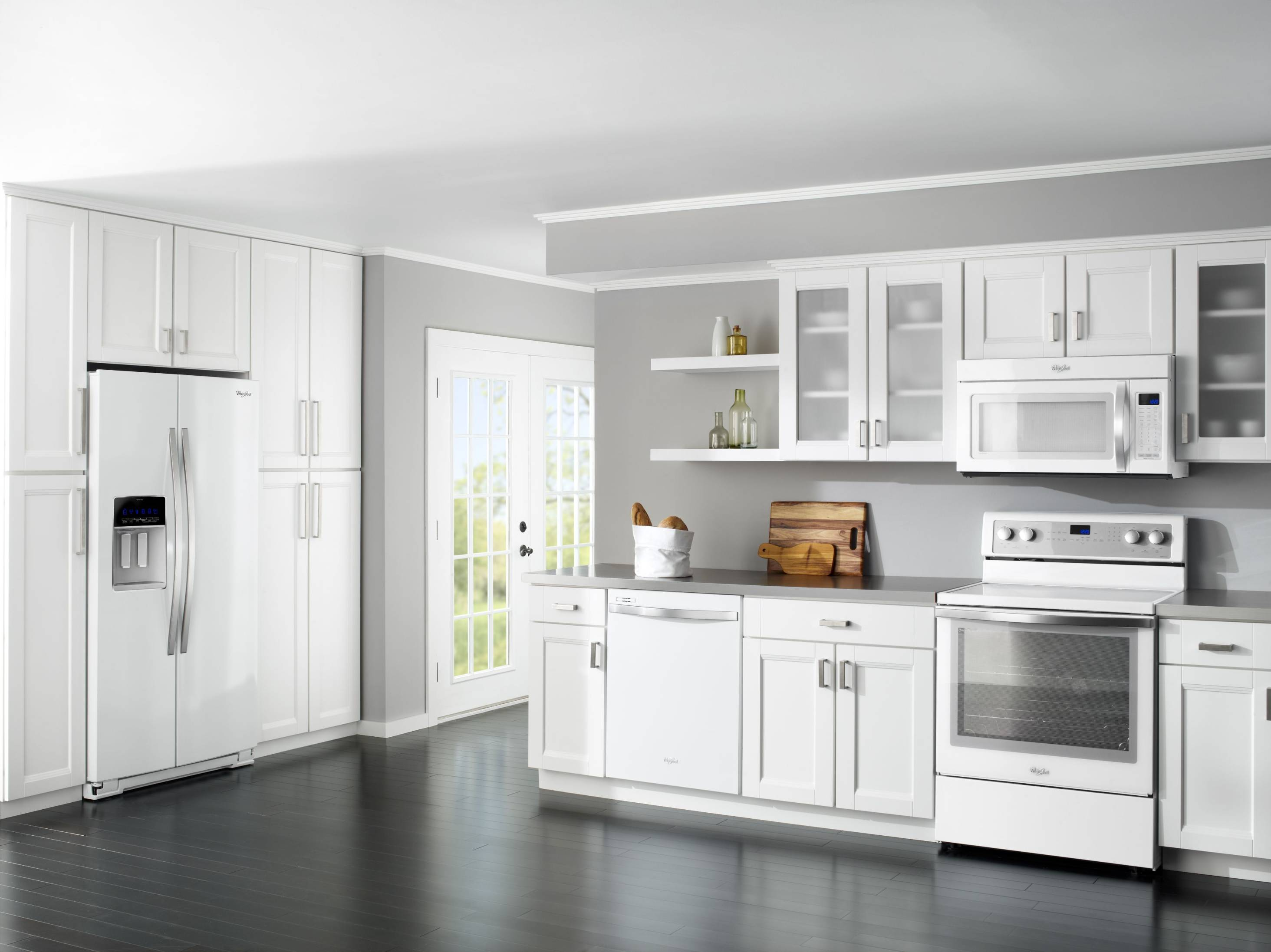 best appliance color with white cabinets