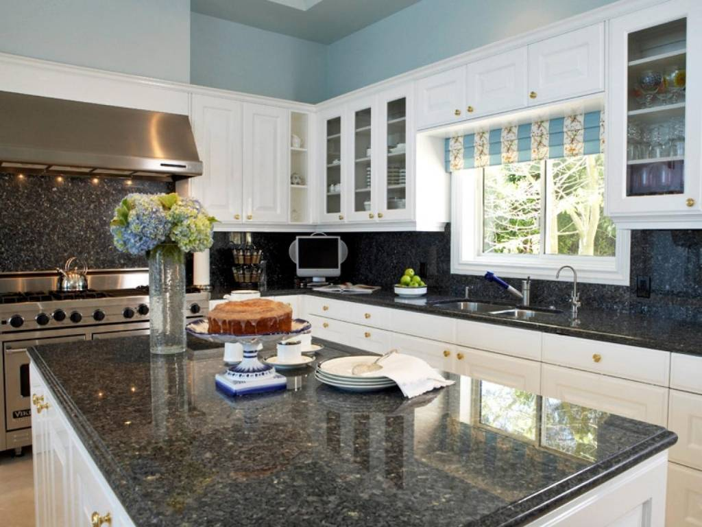 best materials for the black countertops in white kitchens