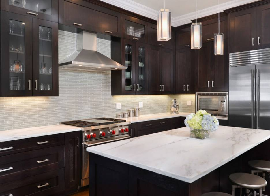 Kitchens With Dark Cabinets Kitchen Paint Colors