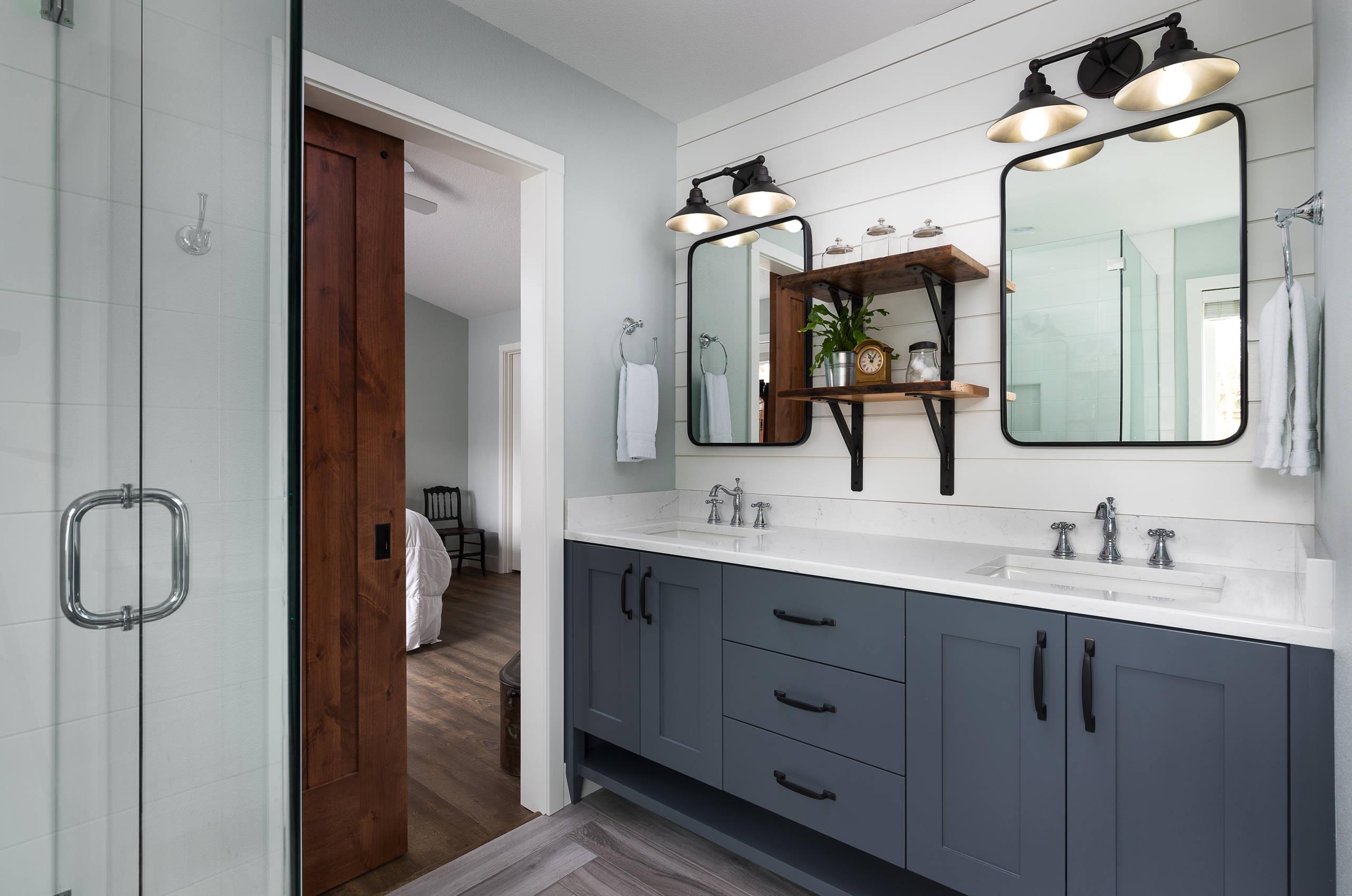 farmhouse bathroom cabinet