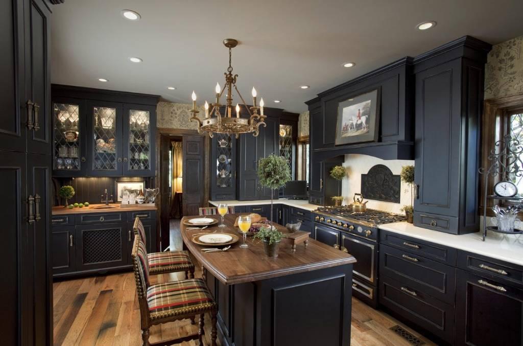 kitchen paint ideas with dark cabinets