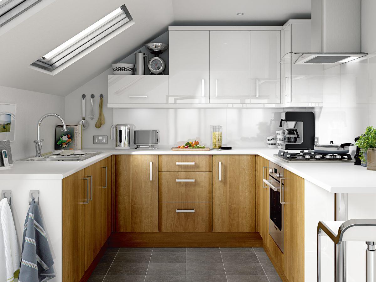 mall u shaped kitchen designs